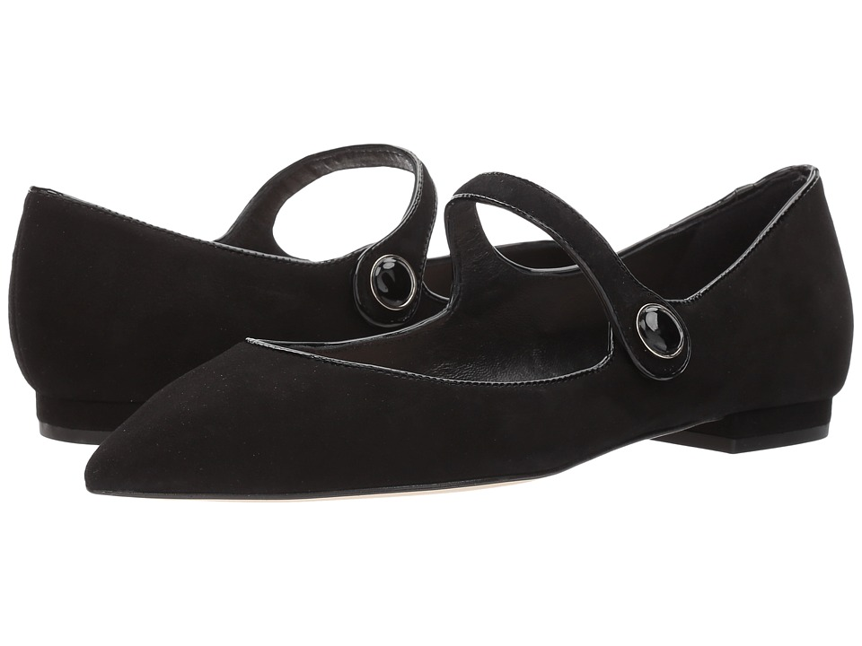 L.K. Bennett Mary Jane (Black Suede/Patent) Women