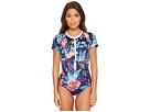 Tommy Bahama IslandActive Graphic Tropics Short-Sleeve One-Piece Swimsuit