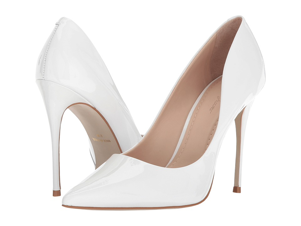 Massimo Matteo Pointy Toe Pump 17 (White Patent) Women's Shoes