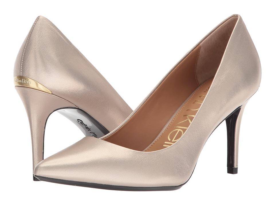Calvin Klein Gayle Pump (Blush Gold) High Heels