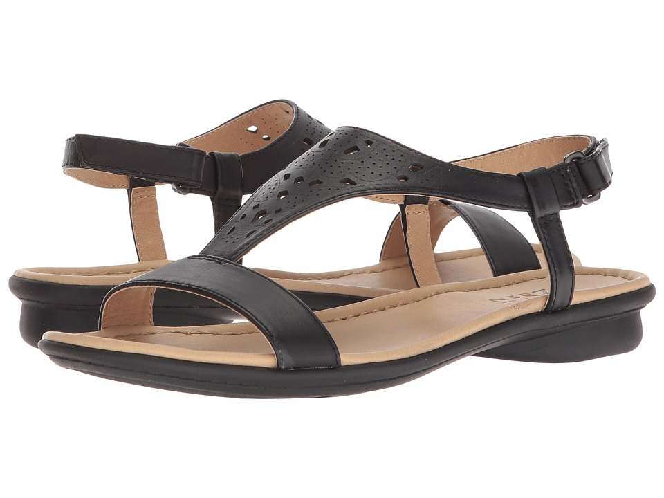 Naturalizer Windham (Black Leather) Sandals