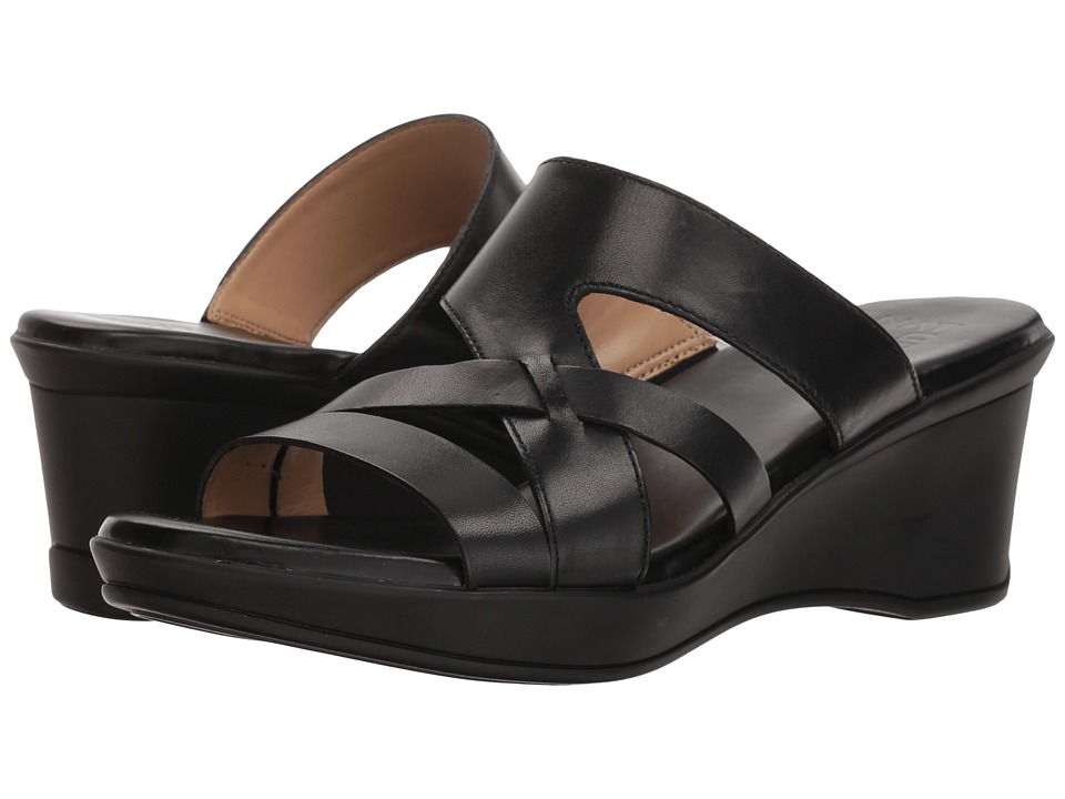 Naturalizer Vivy (Black Leather) Sandals