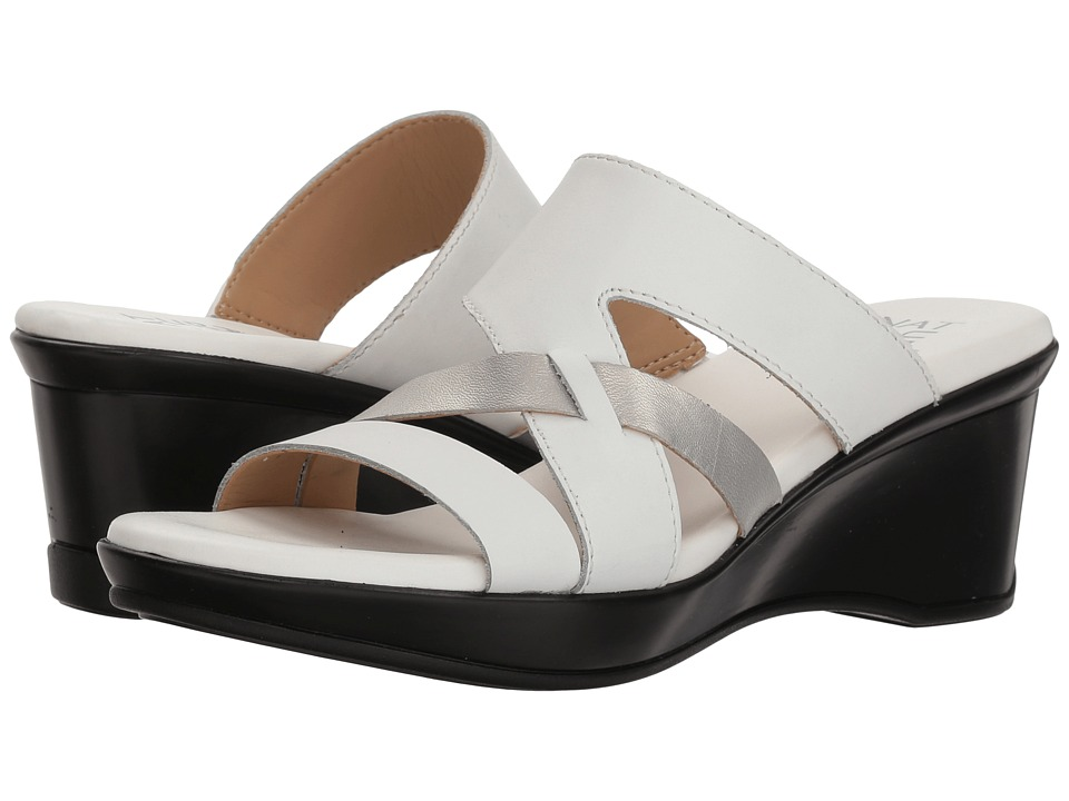 Naturalizer Vivy (White Leather Metallic) Sandals