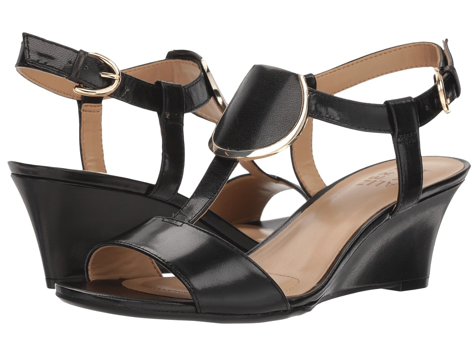 Naturalizer Talli (Black Leather) Women's Dress Sandals