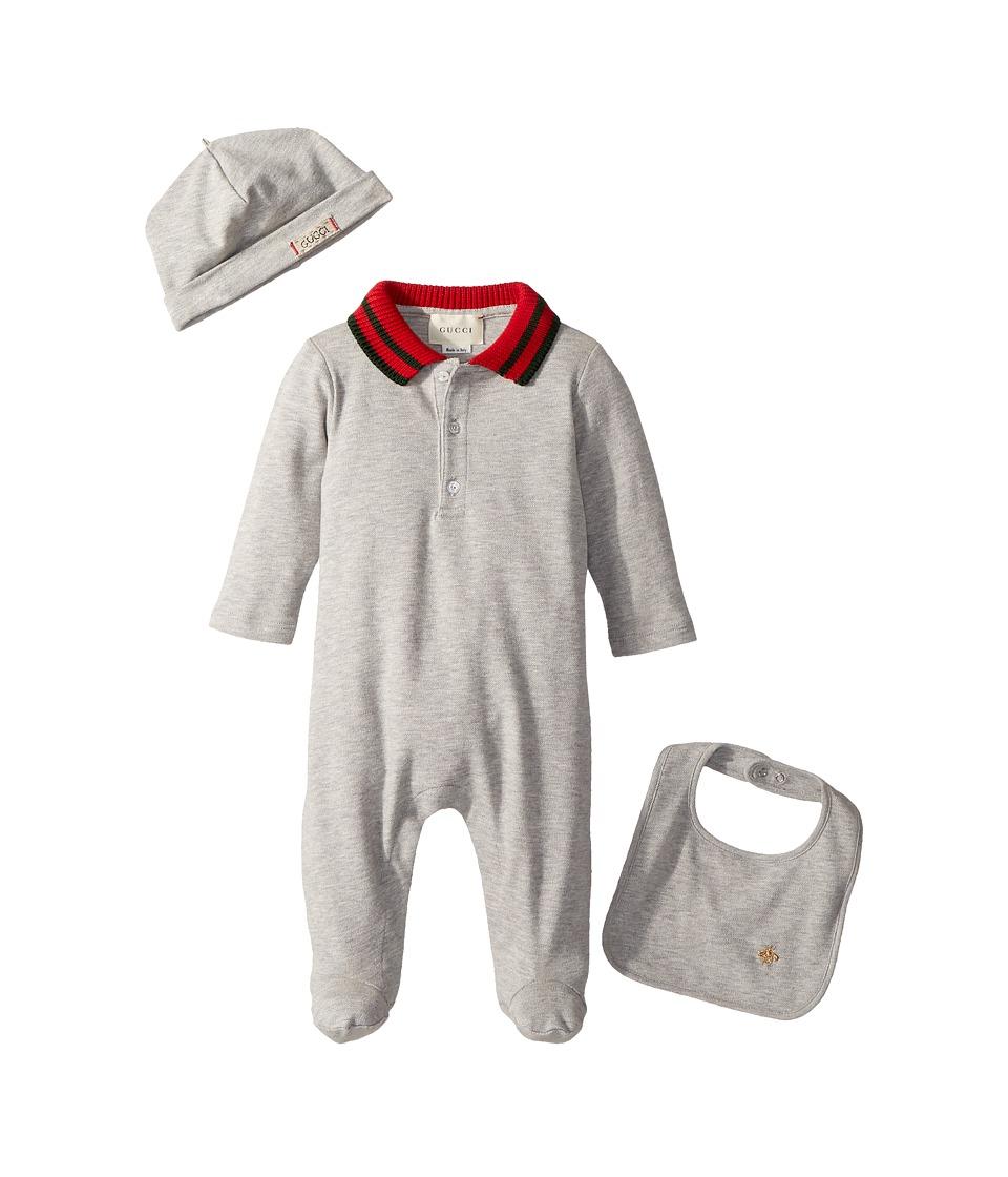 Gucci Kids - Gift Set 463438X5Q23 (Infant) (Light Grey) Kids Jumpsuit & Rompers One Piece