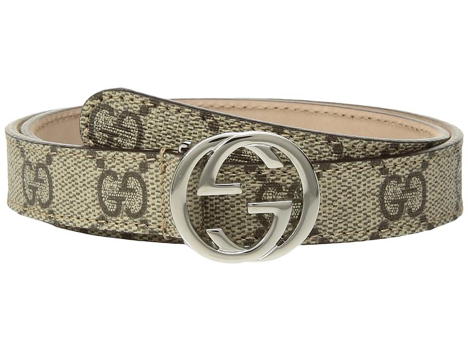 Gucci Kids - Cint. PS. 20 258395KGD0N (Little Kids/Big Kids) (Beige/Ebony) Kids Belts