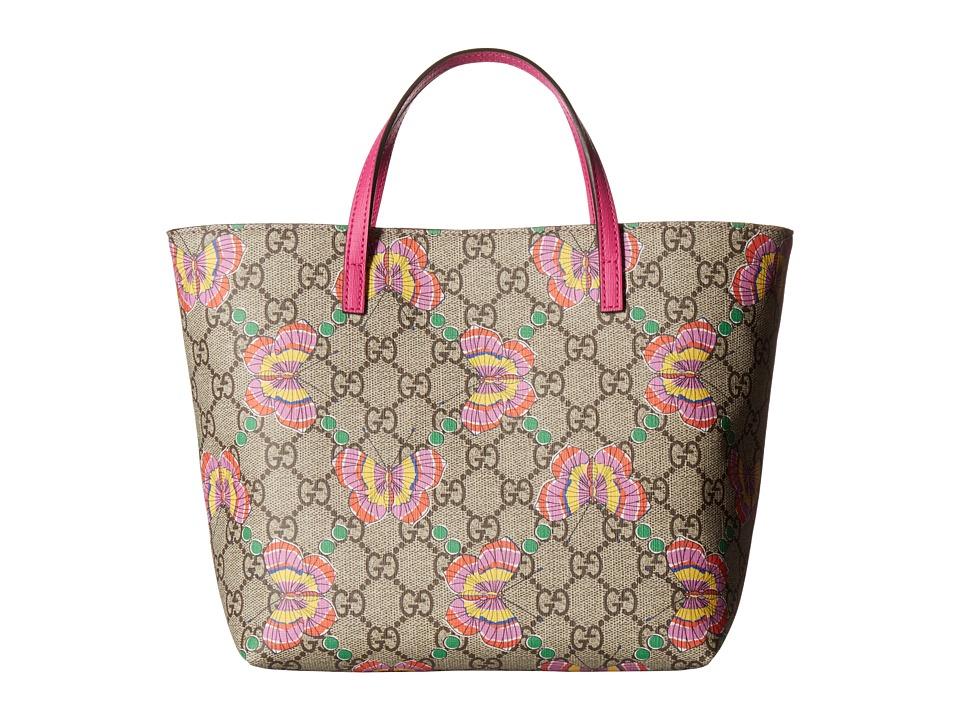 Gucci Kids - Borsa 4108129KTAN (Beige/Ebony/Multi/Fluo Azalea) Handbags