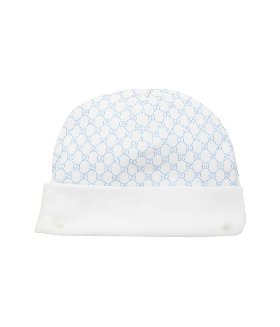 Gucci Kids - Hat 3221233K107 (Infant/Toddler) (White/Sky Blue) Caps