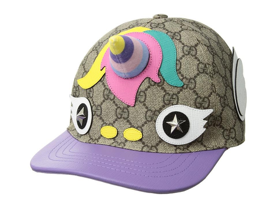 Gucci Kids - Hat Unicorn 5044814HD20 (Little Kids/Big Kids) (Dark Brown/Light Purple) Caps