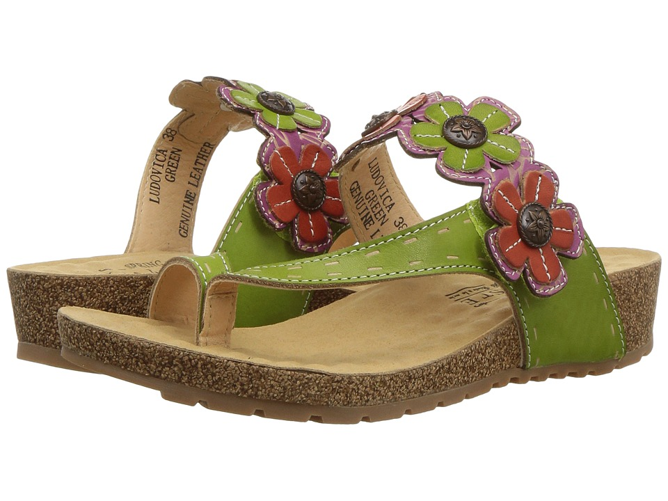 L'Artiste by Spring Step Ludovica (Green) Women's Shoes
