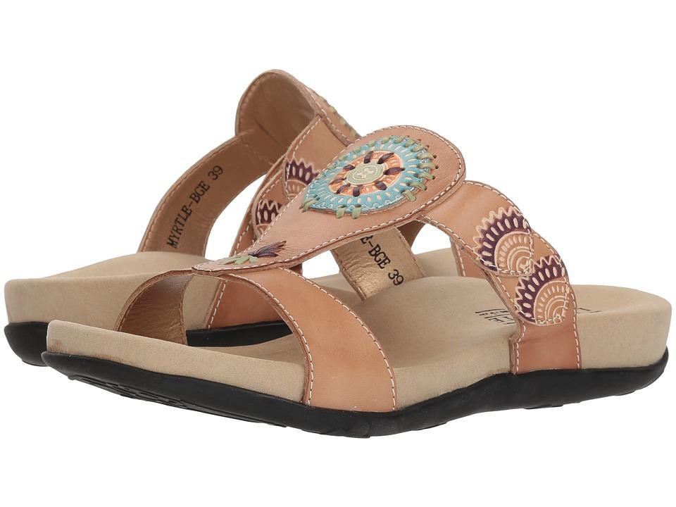 L'Artiste by Spring Step Myrtle (Beige) Women's Shoes