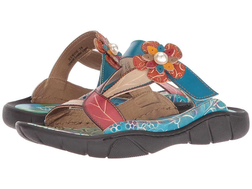 L'Artiste by Spring Step Syros (Red Multi) Women's Shoes