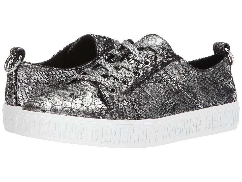 Opening Ceremony - La Cienega Metallic Snake (Silver) Womens Shoes