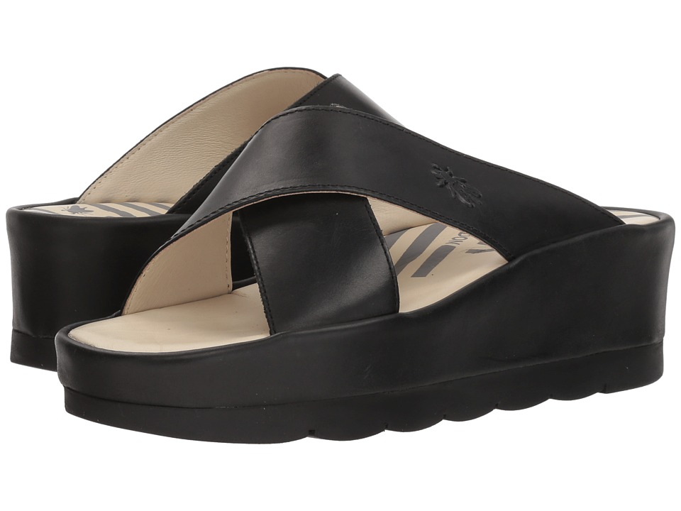 FLY LONDON BEGS793FLY (Black Rug) Women's Shoes