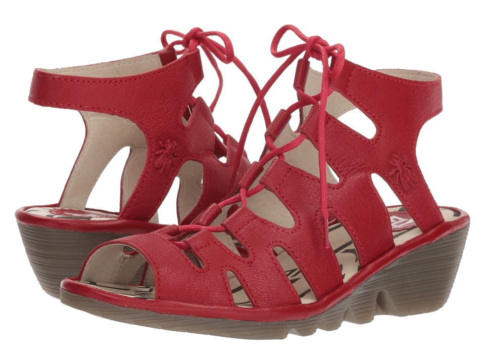 FLY LONDON - PORT813FLY (Lipstick Red Mousse) Womens Shoes