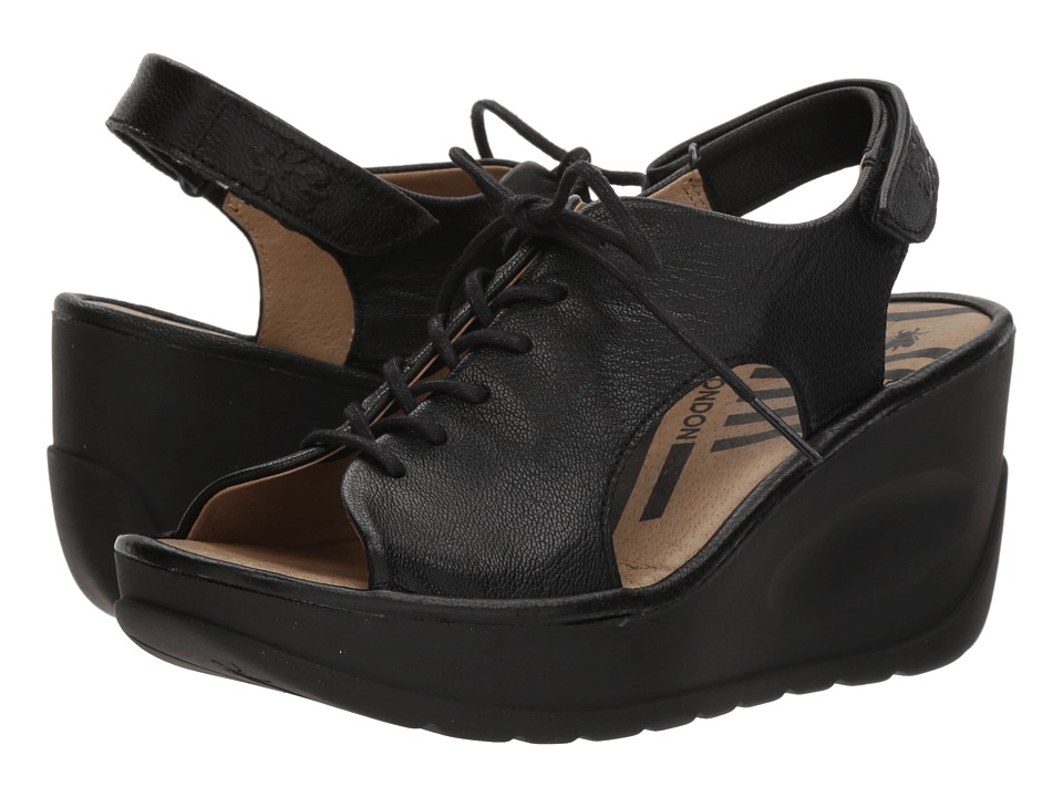 FLY LONDON - JART862FLY (Black Mousse) Womens Shoes