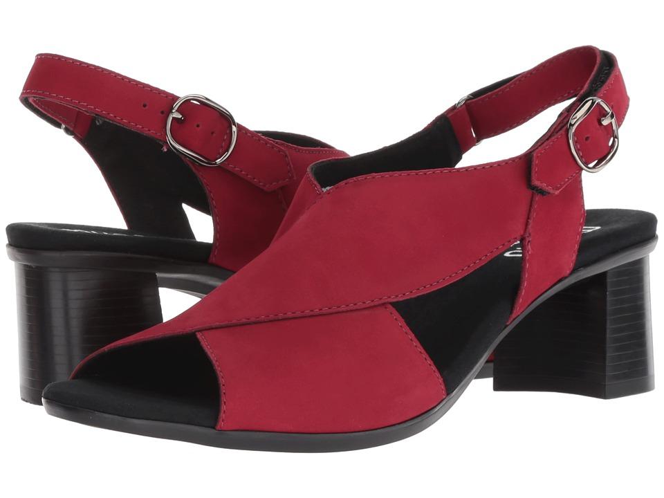 Munro Laine (Red Nubuck) Sandals