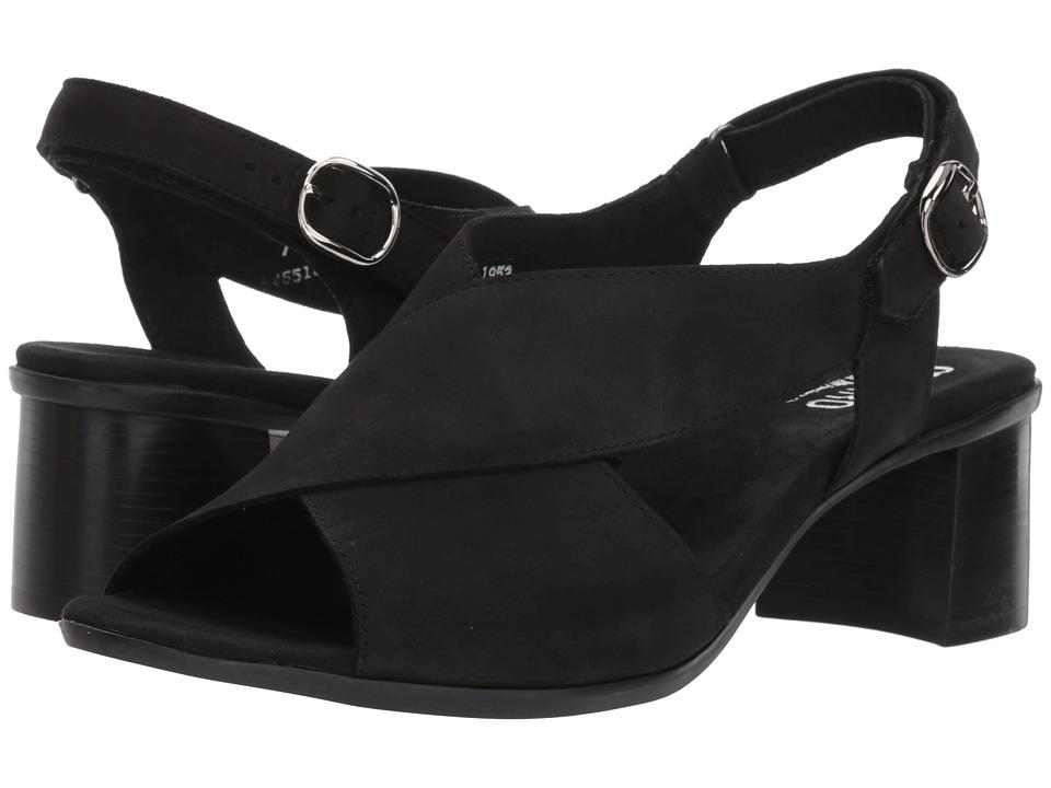 Munro Laine (Black Nubuck) Sandals