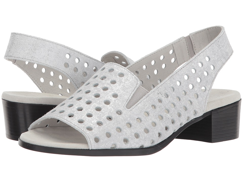 Munro - Mickee (Silver Metallic Printed Leather) Women's Sandals