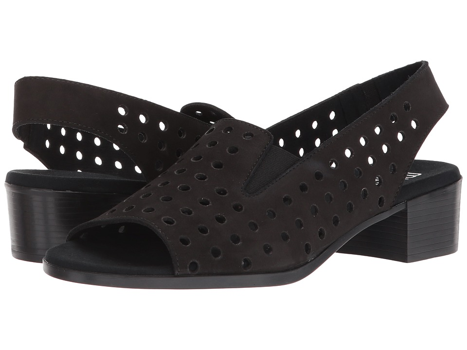 Munro Mickee (Black Nubuck) Sandals
