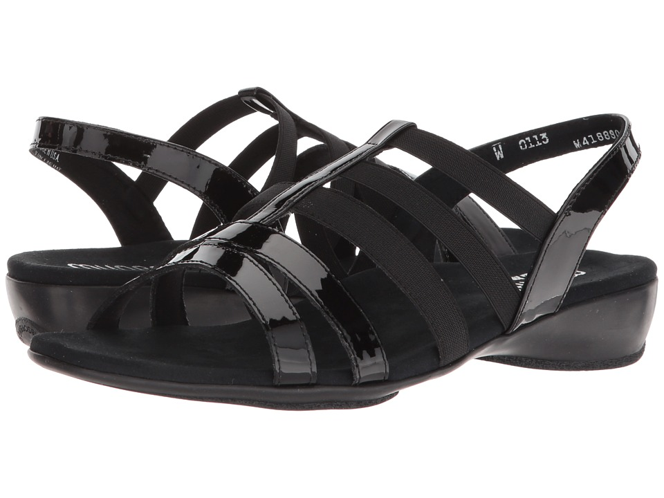 Munro Bev (Black Patent Combo) Sandals
