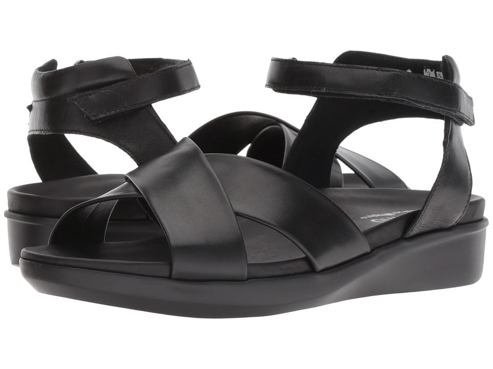 Munro Brinn (Black Kid Leather) Sandals