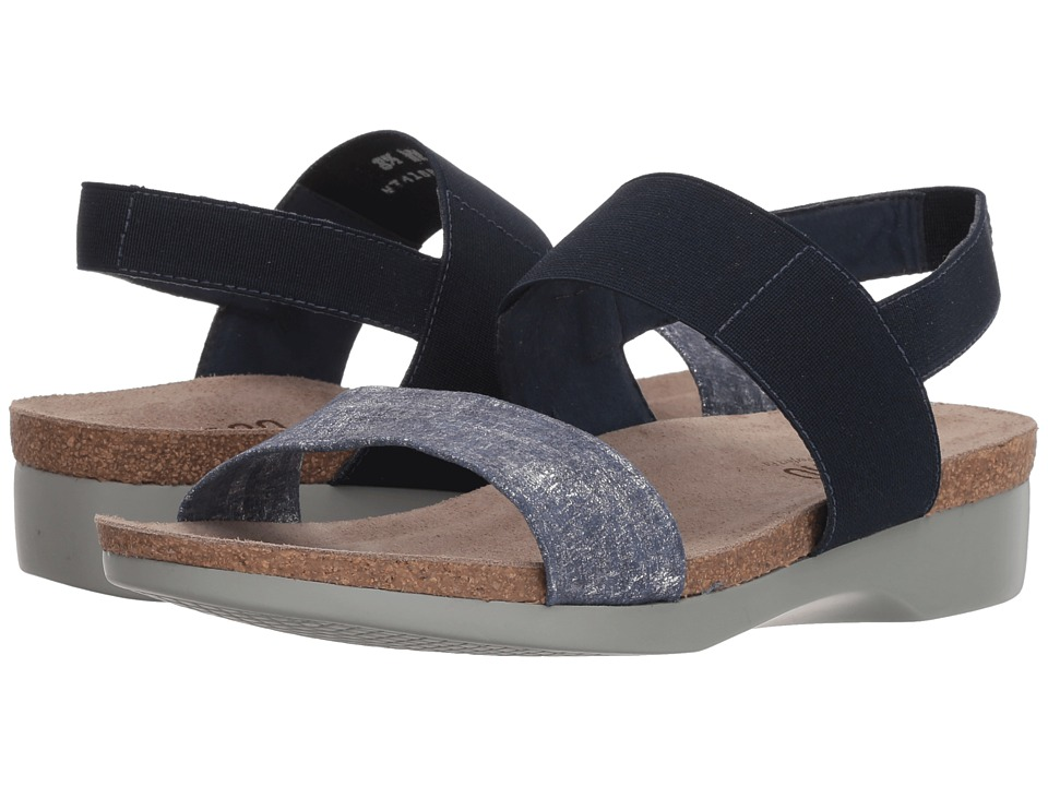Munro Pisces (Blue/Silver Metallic) Sandals