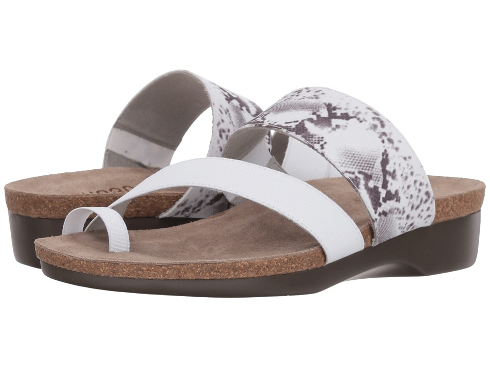 Munro - Aries (White Snake Gore) Womens Sandals