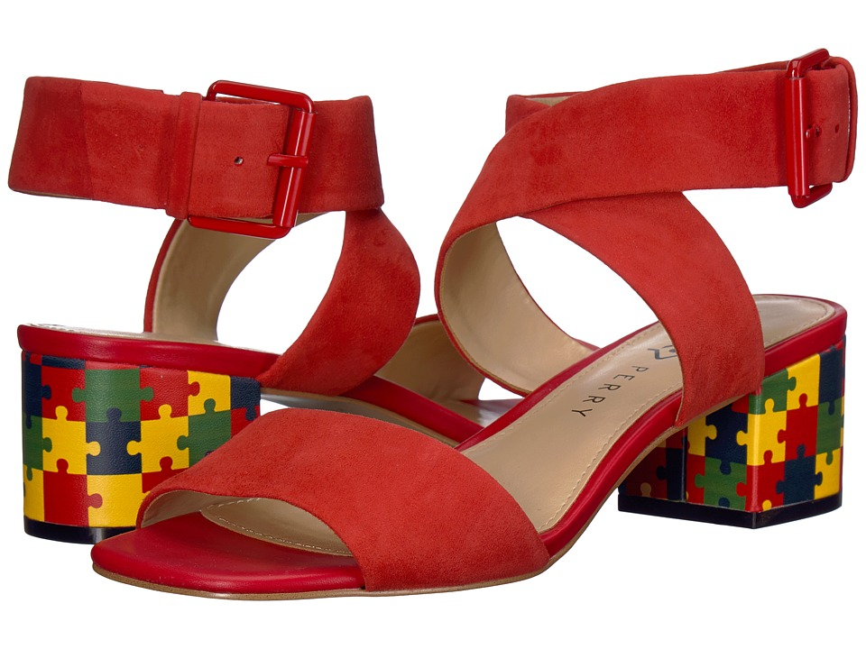 Katy Perry The Margot (Spanish Red Suede/Puzzle Print) Wo...