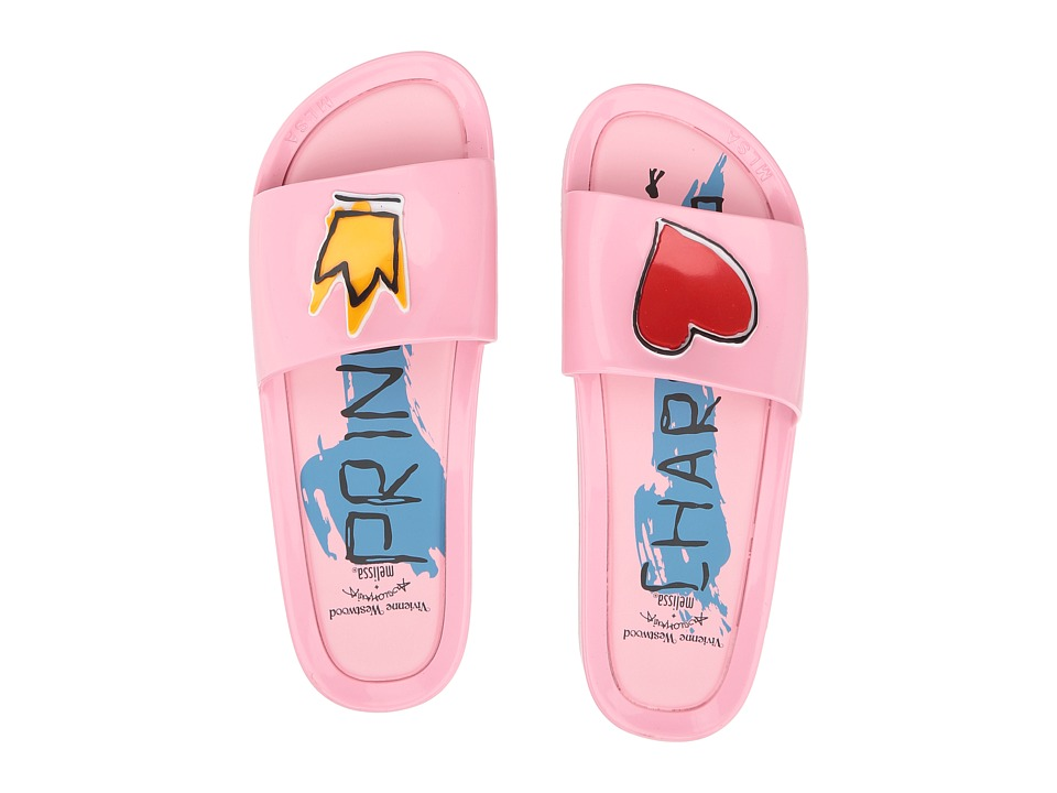 + Melissa Luxury Shoes - Vivienne Westwood Anglomania + Melissa Beach Slide II (Pink) Womens Shoes
