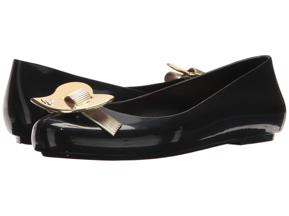 + Melissa Luxury Shoes - Vivienne Westwood Anglomania + Melissa Space Love III (Black/Light Gold) Womens Shoes