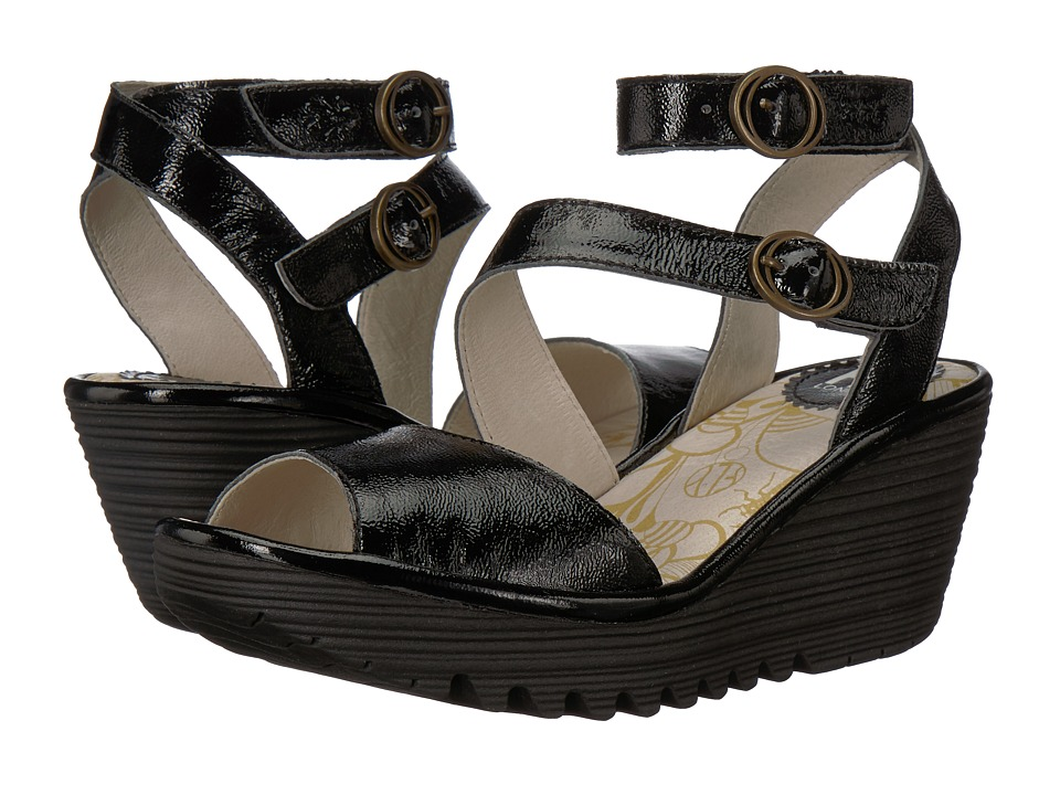 FLY LONDON YISK837FLY (Black Luxor) Women's Shoes