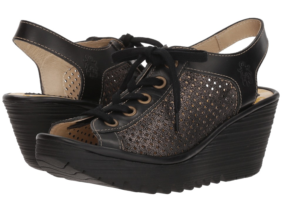 FLY LONDON YEKI841FLY (Graphite/Black Cool/Rug) Women's Shoes