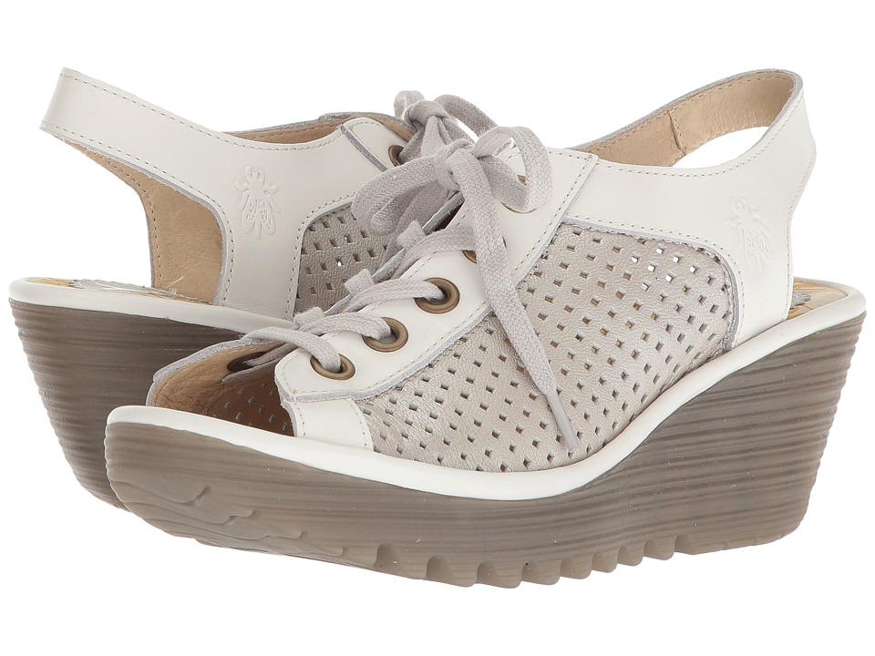 FLY LONDON YEKI841FLY (Silver/Off-White Borgogna/Rug) Women's Shoes