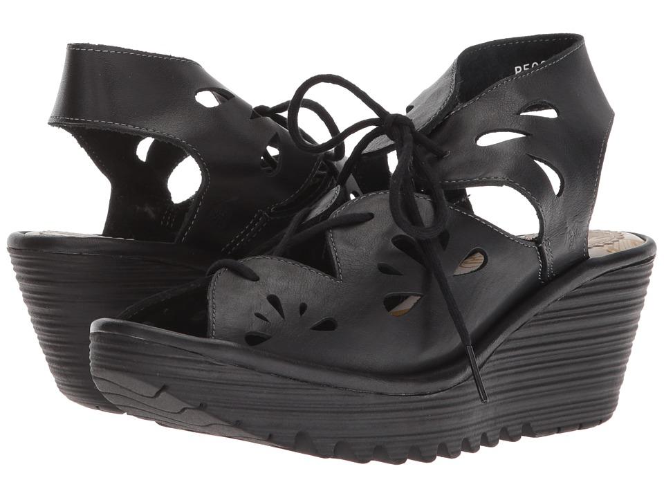 FLY LONDON YOTE828FLY (Black Colmar) Women's Shoes