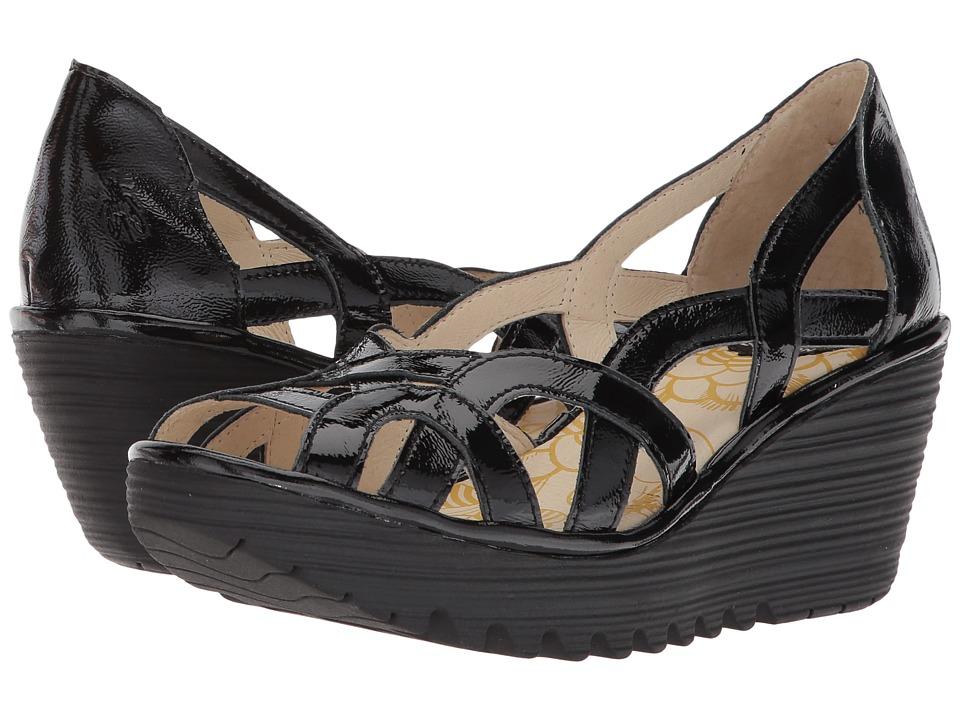 FLY LONDON Yadi718Fly (Black Luxor) Women's Shoes