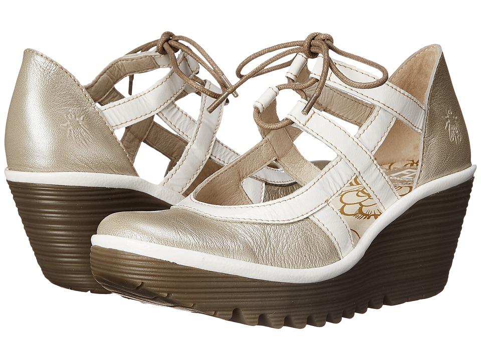 FLY LONDON - Yett (Silver/Off-White Borgogna/Damani) Womens Shoes
