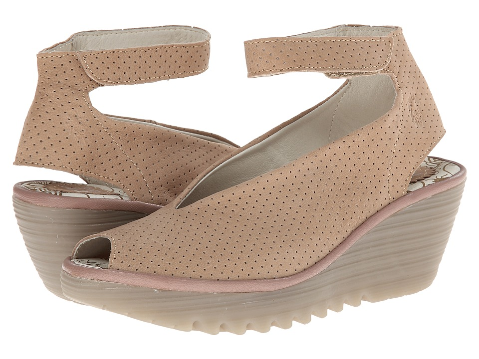 FLY LONDON Yala Perf (Beige Cupido/Mousse) Women's Shoes