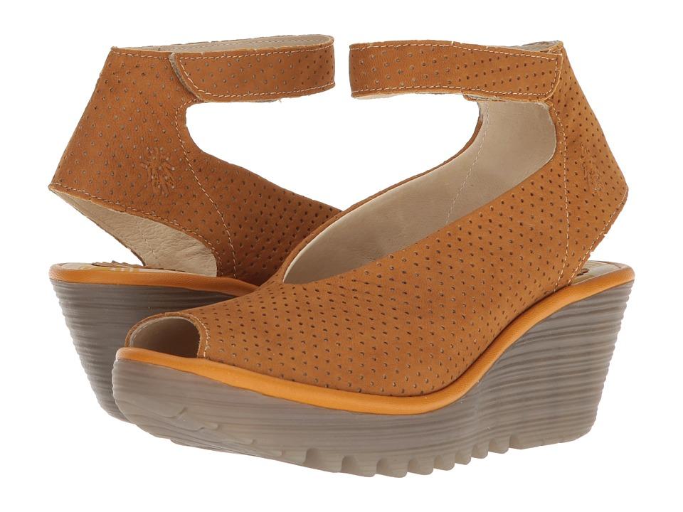 FLY LONDON Yala Perf (Honey Cupido) Women's Shoes