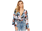 Free People Thats A Wrap Top Printed