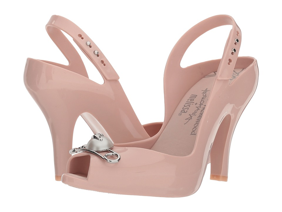+ Melissa Luxury Shoes - Vivienne Westwood Anglomania + Melissa Lady Dragon XV (Pale Pink) Womens Shoes