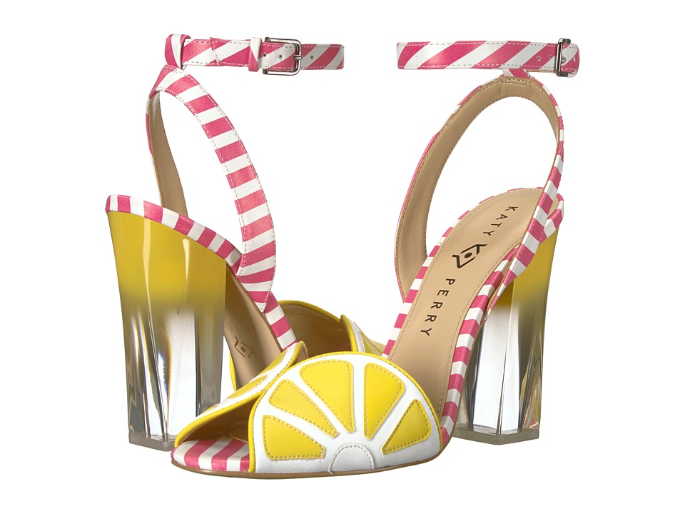 Katy Perry - The Citron (Yellow/Pink/White Smooth Nappa) Womens Shoes