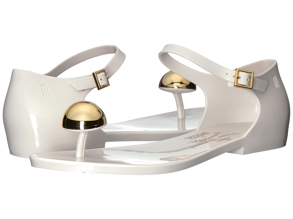 + Melissa Luxury Shoes - Vivienne Westwood Anglomania + Melissa Honey (White/Silver Heart) Womens Shoes