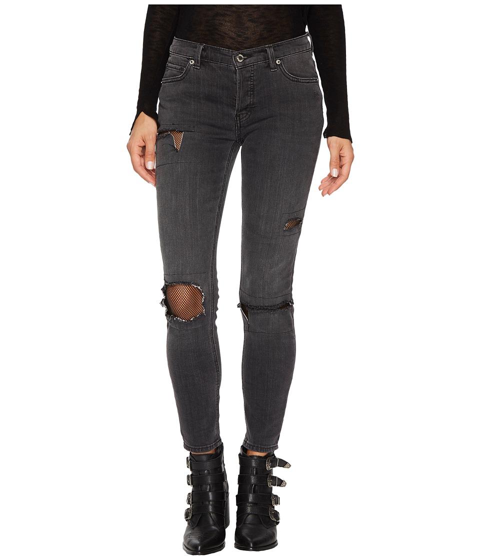 Free People Fishnet Skinny in Black (Black) Women