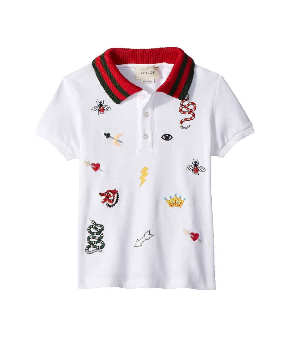 Gucci Kids - Polo 497824X9L64 (Infant) (Optic White/Multicolor) Boys Short Sleeve Pullover