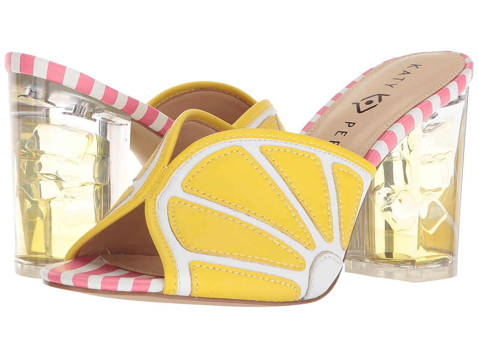 Katy Perry - The Loretta (Yellow/White Smooth Nappa) Womens Shoes