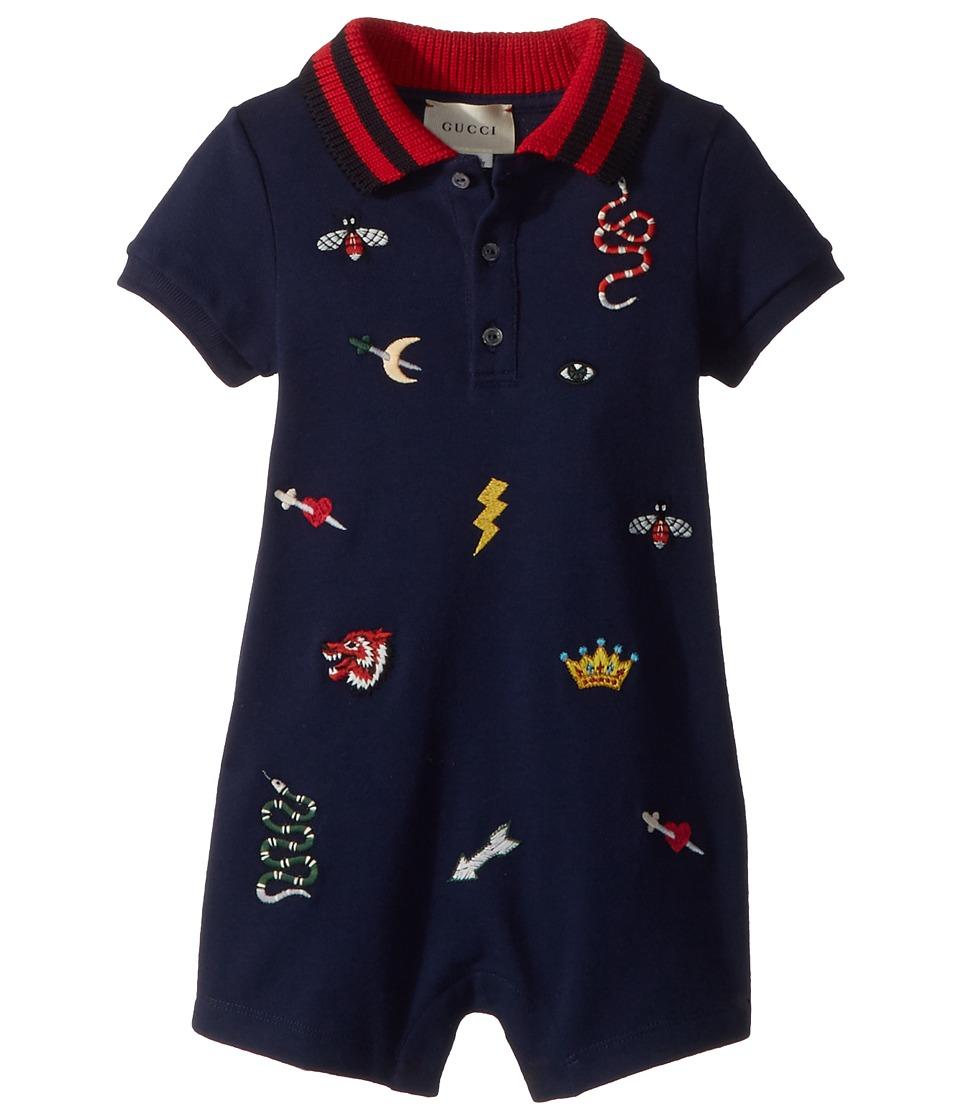 Gucci Kids - Sleepsuit 497825X9L64 (Infant) (Oltremare/Multicolor) Boys Pajama