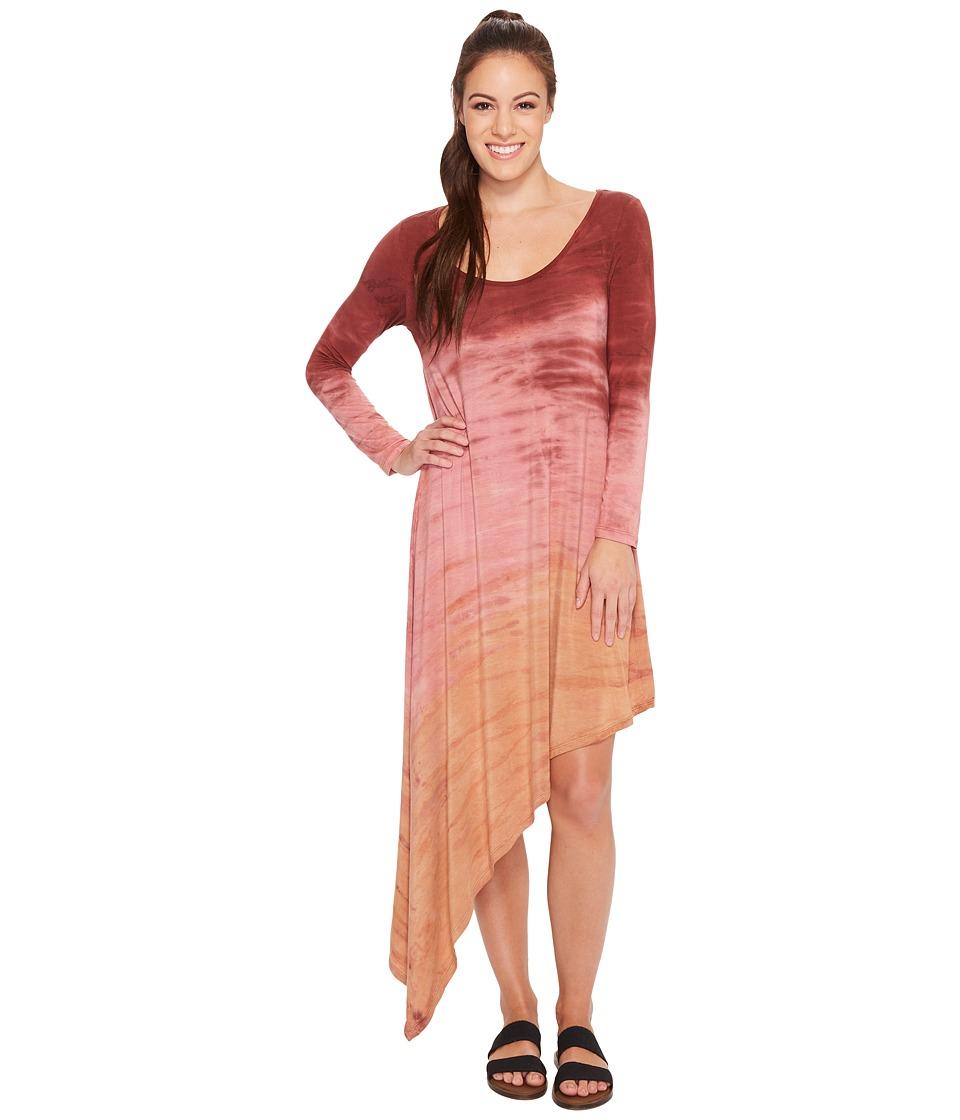 Hard Tail Asymmetric Dress (Rainbow Horizon 64) Women