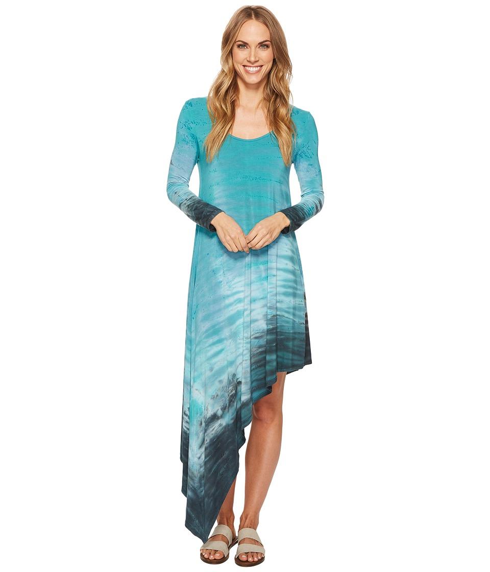 Hard Tail Asymmetric Dress (Rainbow Horizon 51) Women