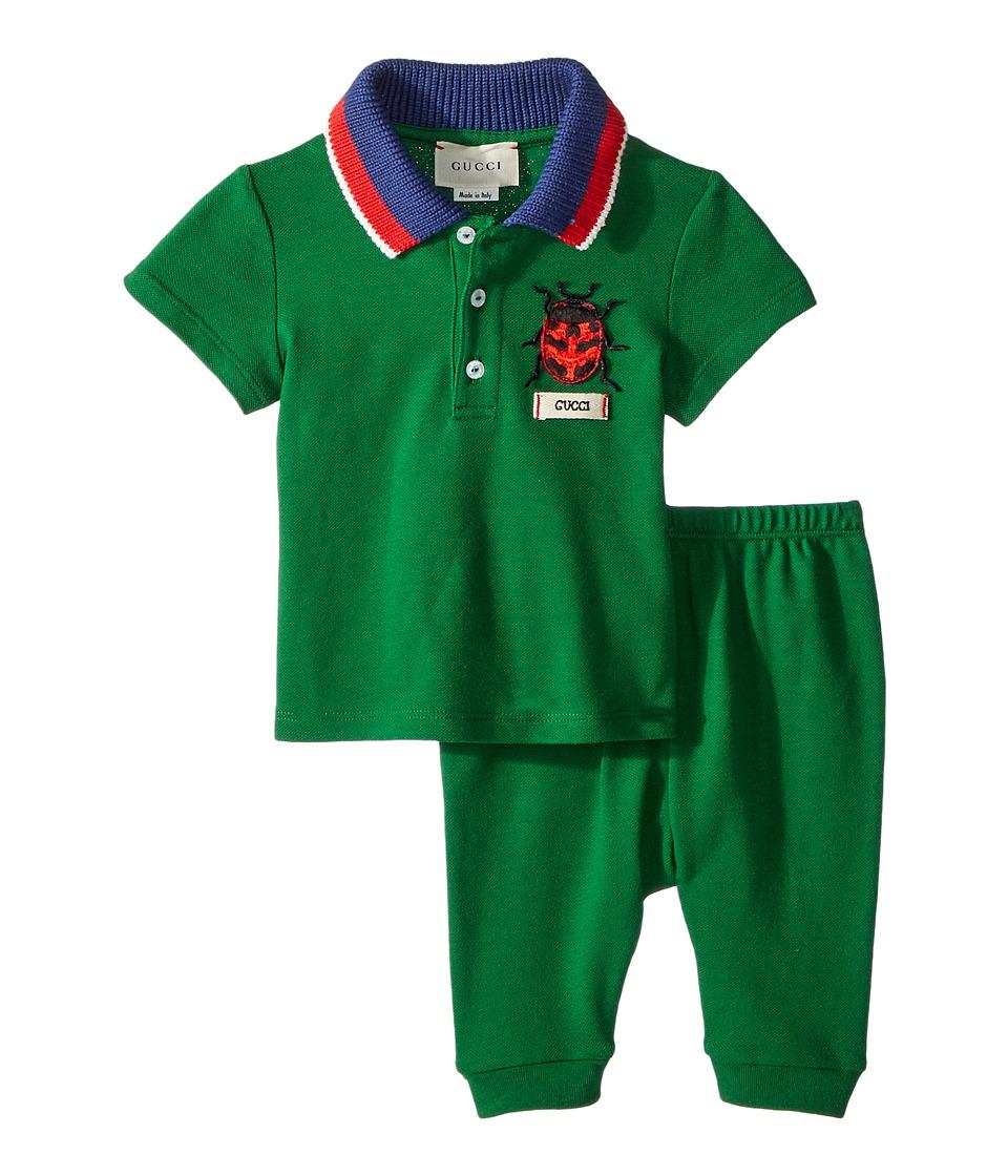 Gucci Kids - Gift Set 497866X9L95 (Infant) (Shamrock/White/Red/Blue) Boys Active Sets